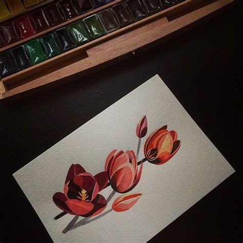 watercolor tulip tattoo on instagram 28 best images on tulip
