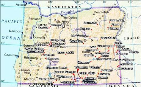 oregon state cus map map of oregon springs http oregonhotsprings immunenet activities