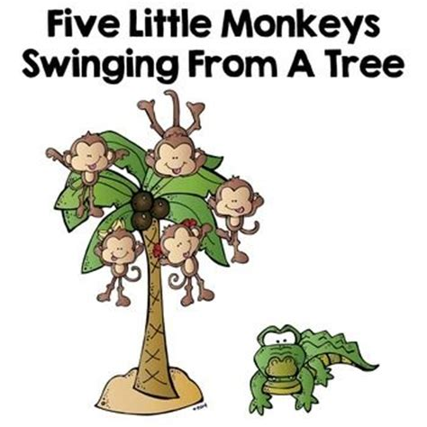 monkey swinging in a tree song five little monkeys swinging in the tree adapted book for