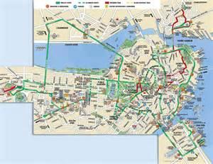 Boston Tram Map by Similiar Map Of Downtown Boston Waterfront Keywords