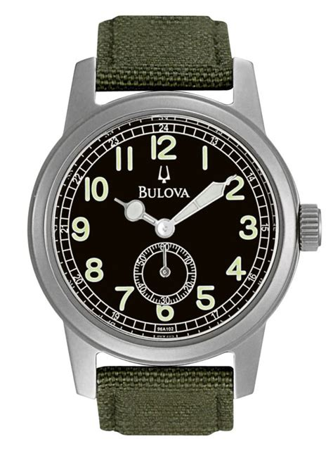 Rugged Watch The 150 Bulova Hack Military Style Watch Ablogtowatch