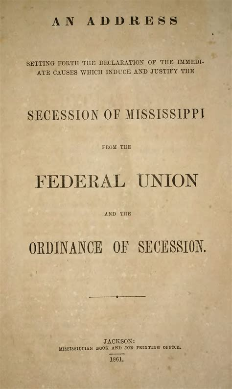 pagemississippi declaration  ordinance  secessiondjvu wikisource    library
