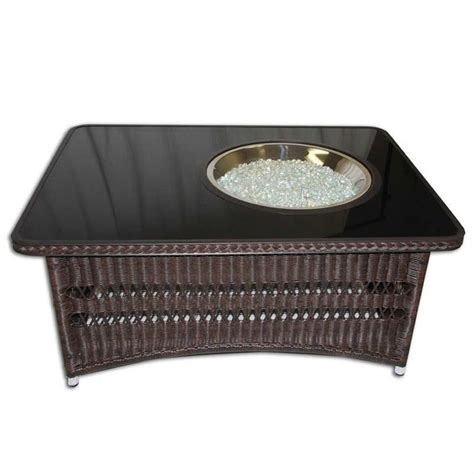 table with firepit outdoor greatroom company naples coffee table with