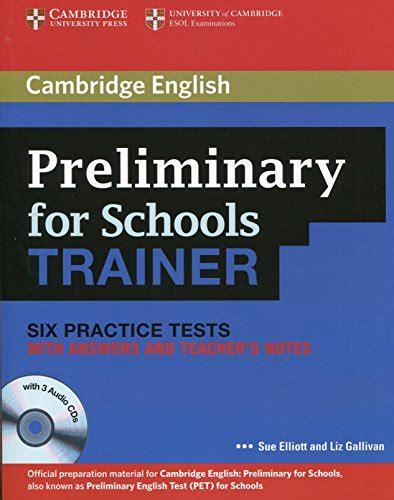 preliminary for schools trainer 0521174856 sue elliott author profile news books and speaking inquiries