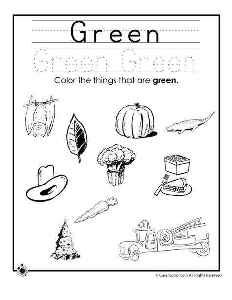 learning colors worksheets learning colors worksheets for preschoolers color green