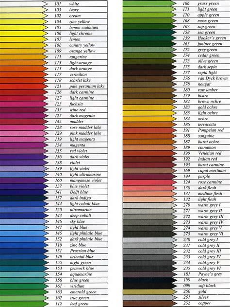 color order faber castell polychromos pencils colour chart the best