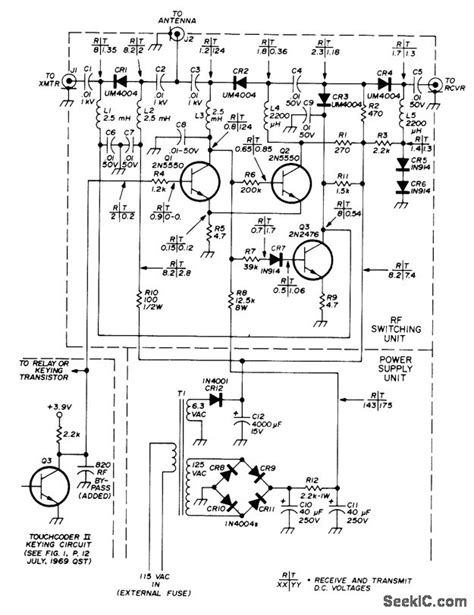 pin diode switch circuit pin diode tr switch switch control control circuit circuit diagram seekic