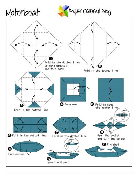 How To Make A Paper Motor Boat - origami motor boat paper origami guide