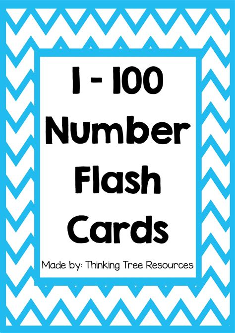 small printable number flashcards free printable number flashcards 1 100 7 best images of
