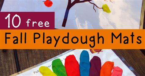 fall playdough mats  fall activities totschooling