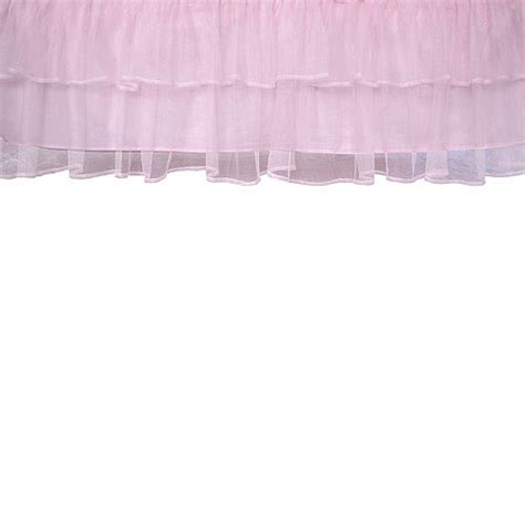 Tulle Crib Bedskirt by Layer Tulle Crib Skirt Pink Walmart