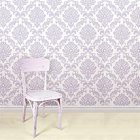 best peel and stick wallpaper wallpops 174 nuwallpaper ariel peel stick wallpaper in purple buybuy baby