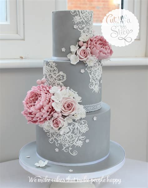 Wedding Flowers And Cakes by Bespoke Wedding Cake By Cut Me A Slice