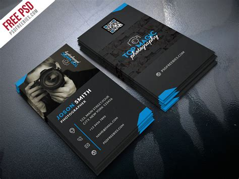 psd template bussiness card with photo photographer business card psd bundle psdfreebies