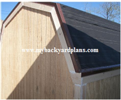 Shed Roof Felt Paint by Gambrel Storage Shed Shingles And Paint