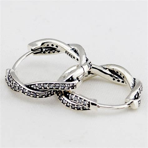 Pandora Refined Big Braids Charms 925 Sterling Silver P 770 compatible with brand 925 sterling silver earrings fashion jewelry twist of fate braided