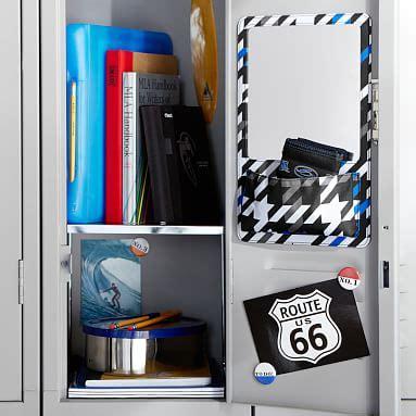 Sui Pocket Mirror Black Asm603 gear up blue houndstooth locker mirror pocket pbteen