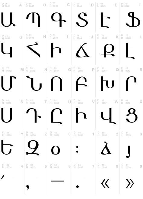Armenian Font, Download Armenian .ttf truetype or .zip ... G Design Letter