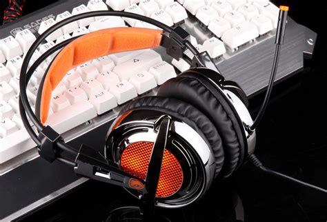 Headset Sades Sa 928 sades sa 928 gaming headphones with mic black and orange