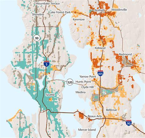seattle eastside map wide open spaces sightline institute