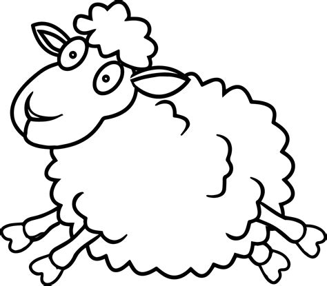 Sheep Jump Coloring Page Wecoloringpage Colouring Pages Sheep