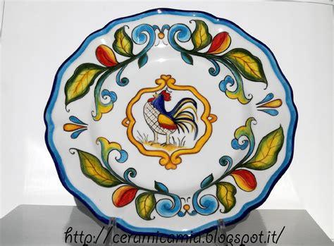 piatti da tavola ceramica che passione piatti da tavola con il gallo