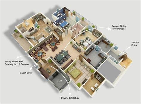 floor plan for four bedroom house