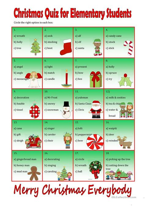 printable christmas quiz esl christmas quiz for beginners worksheet free esl