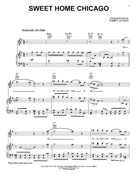 sweet home sheets sweet home chicago sheet music by robert johnson piano