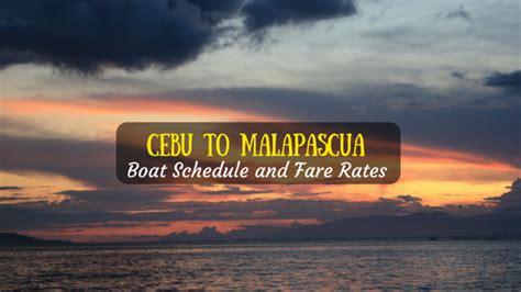 manila to cebu boat cebu to malapascua boat schedule and fare rates 2018