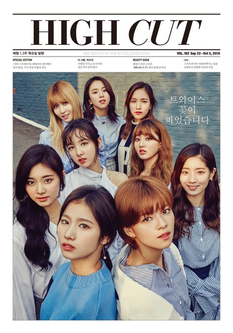 January 2017 Korean Magazine Majalah Korea on the cover of high cut vol 182 daily korean
