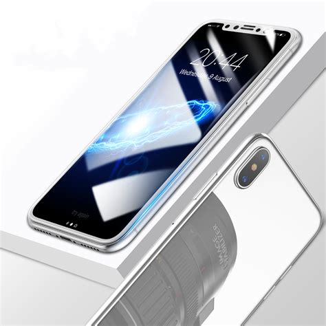 Baseus 3d Tempered Glass Front Back Iphone X Ten baseus 0 2mm 3d arc edge front rear tempered glass screen protector for iphone x alex nld