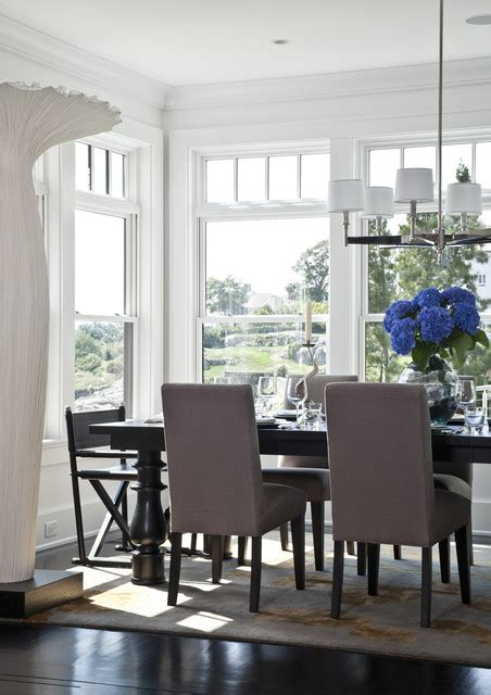 Rocky Ledge Dining Table Transitional Dining Room Dining Room Boston