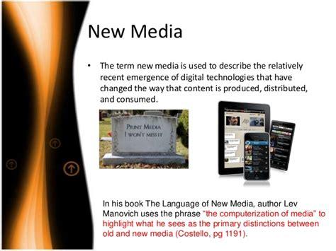 New Media Essay by Media Vs New Media