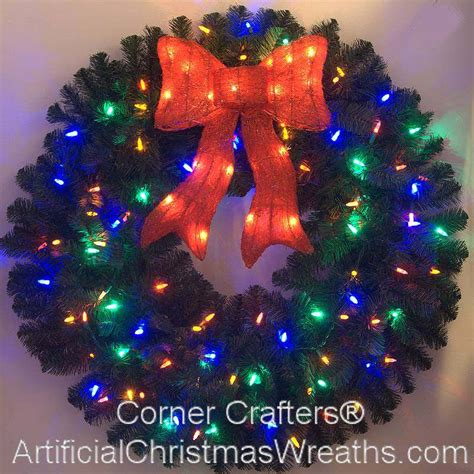 3 foot color changing l e d prelit christmas wreath
