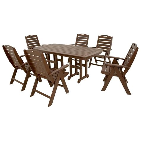 Trex Outdoor Furniture Yacht Club Vintage Lantern 7 Piece High Patio Dining Set