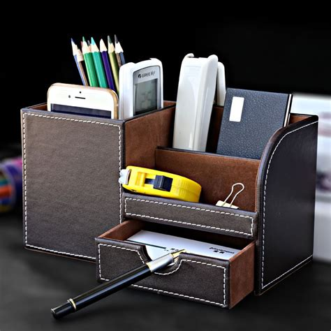 Pen Pencil Phone Holder Storage Box For Business Office Phone Organizer Desk
