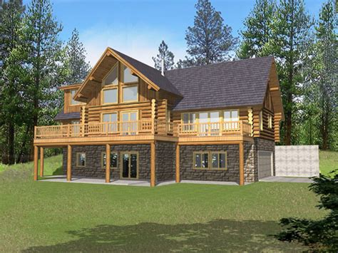 log home floor plans with garage and basement marvin peak log home plan 088d 0050 house plans and more
