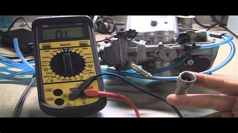 testing motorcycle throttle position sensor checking ohms