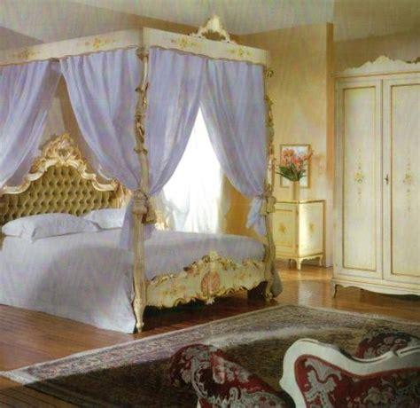 letto stile veneziano letto a baldacchino barocco laccato stile veneziano