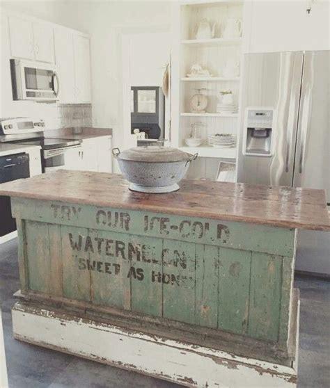 Vintage Farmhouse Kitchen Islands: Antique Bakery Counter