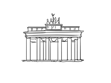 porte de brandebourg dessins gratuits berlin clipart