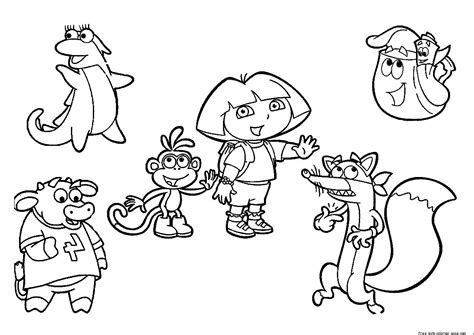 printablecoloringpages us dora the explorer coloring pages free to printfree
