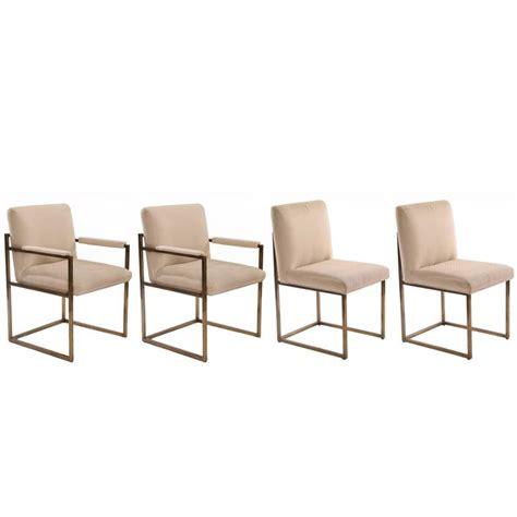 Milo Baughman Thayer Coggin Bronze Dining Chairs For Sale Milo Baughman Dining Chairs