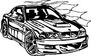 sports bmw car coloring pages for kids