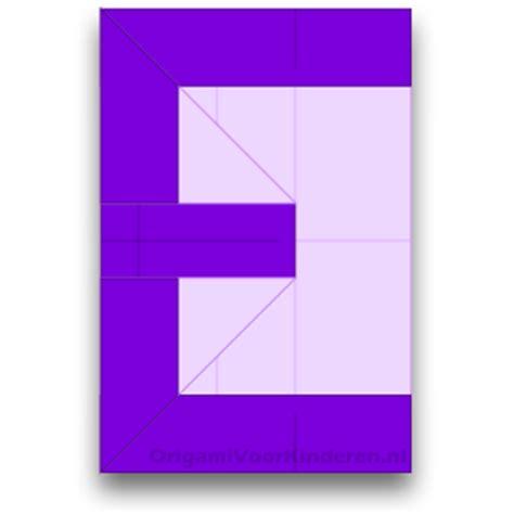 Origami Letter E - letter e makkelijk origami voor kinderen