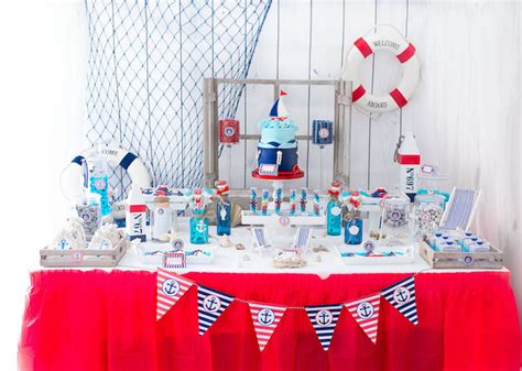 Nautical Themed Wedding - kara s party ideas little sailor nautical baby shower kara s party ideas