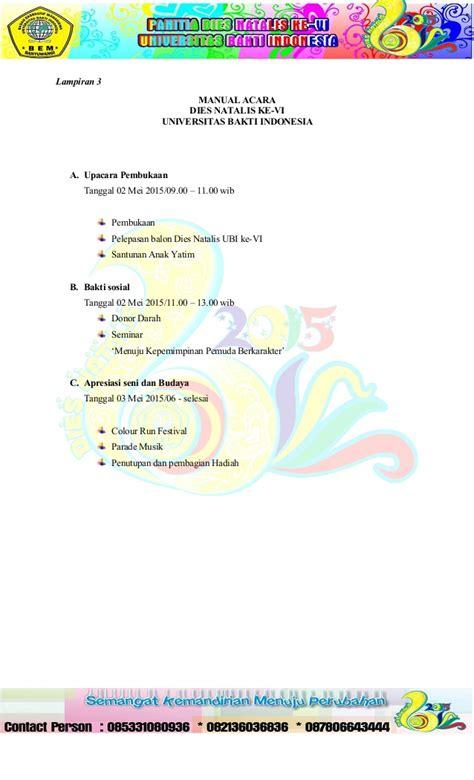 format proposal dies natalis proposal diesnatalis universitas by pungkivication