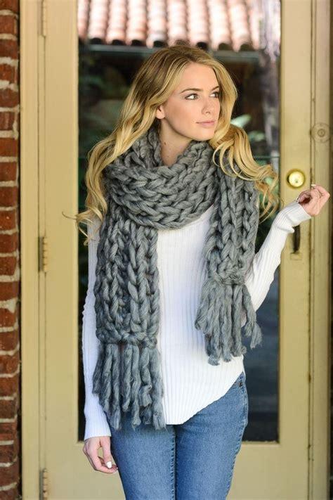 Chunky Knit Scarf 1000 ideas about chunky knit scarves on