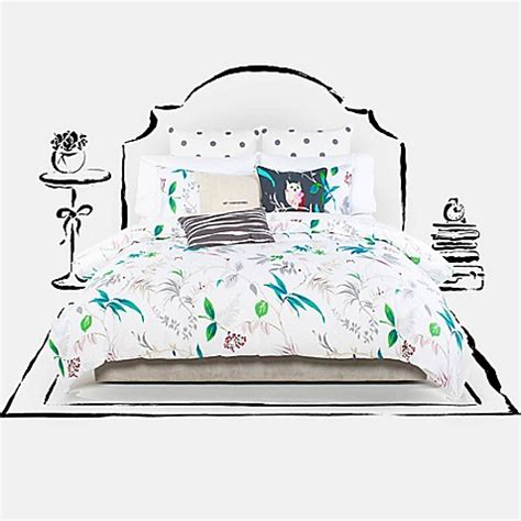 Kate Spade Tanden Bed kate spade new york trellis blooms duvet cover set in white bed bath beyond